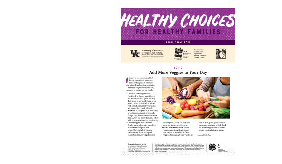 Read the Latest Healthy Choices Newsletter
