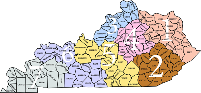 Kentucky Districts and Counties